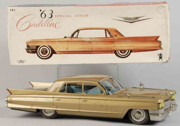 Bandai Tin-Cars Cadillac sedan #961 made of lithographed tin, with friction