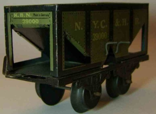 Bub Railway-Freight Wagons Coal car #969 with four wheels, in a gray way chrome-lithogr