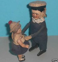Schuco Tin-Dance Figures Sailor with girl #975 and...