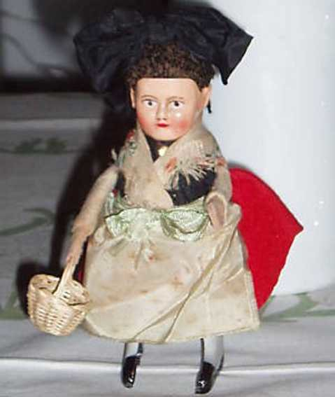Schuco Tin-Dance Figures Black forest girl and clockwork, wound up she dances, made o
