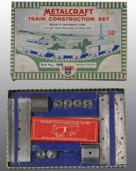 Metalcraft Corp. St Louis Metal Kits Train Construction Set. Builds five different railroad cars.