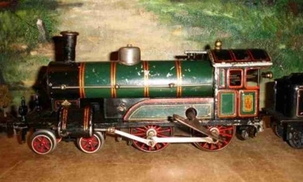 Bing Railway-Locomotives Clockwork dragging tender steam locomotive #981/1 of the 1st