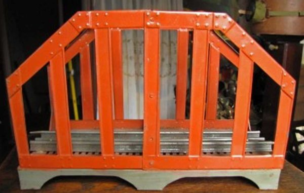 Ives Railway-Bridges Bridge in a rare burnt orange color with two extensions in t