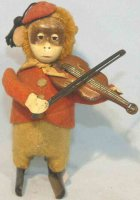 Schuco Tin-Dance Figures SOLISTO monkey with violin #985...