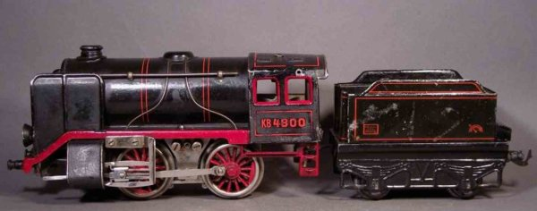 Bub Railway-Locomotives Steam locomotive #9870/18 with four wheeled tender and elect