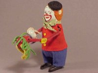 Schuco Tin-Dance Figures HOPSA #988 dancing clown with...