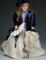 Handwerck Heinrich Dolls Doll with bisque socket head...