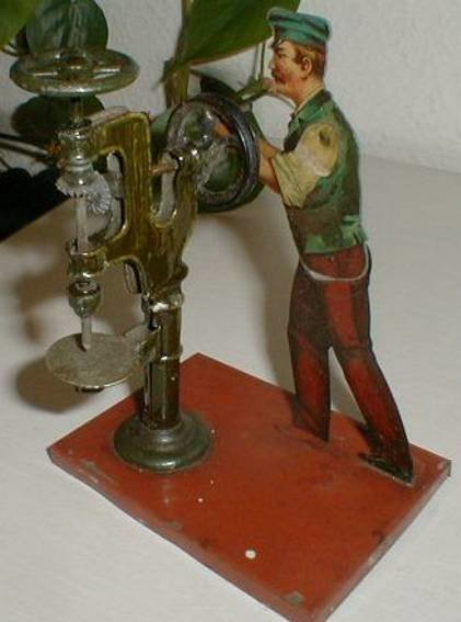 Bing Steam Toys-Drive Models Factory worker #9956/115 at the drill