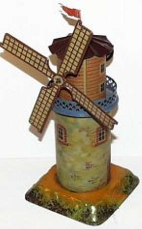 Bing Steam Toys-Drive Models Musical windmill #9956/229, combination lithographed and han