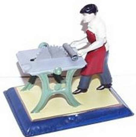 Bing Steam Toys-Drive Models Man sawing wood #9956/244