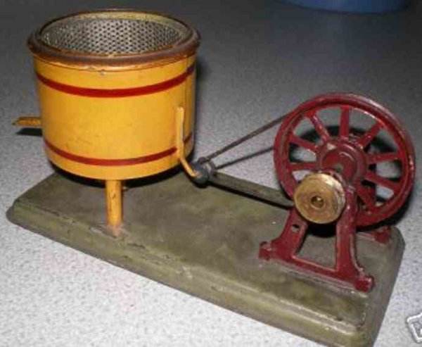 Bing Steam Toys-Drive Models Churn #9956/329, with centrifuging rotating quickly, barrel