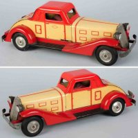 Marx Tin-Fire-Truck Pressed steel automobile battery-op...