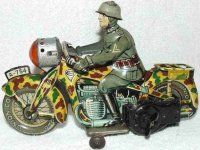 Arnold Tin-Motorcycles Tin lithographed motorcyclist,...