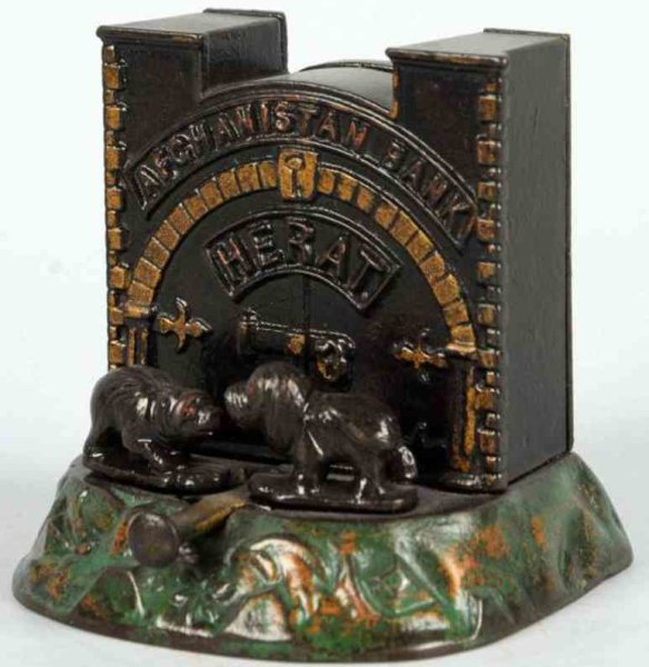 Judd H.L. Cast-Iron-Mechanical Banks Cast iron Afghanistan mechanical bank, Provenance: Griffith,