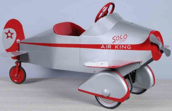 Gendron Wheel Company Tin-pedal cars Pressed steel air king pedal car, art deco look
