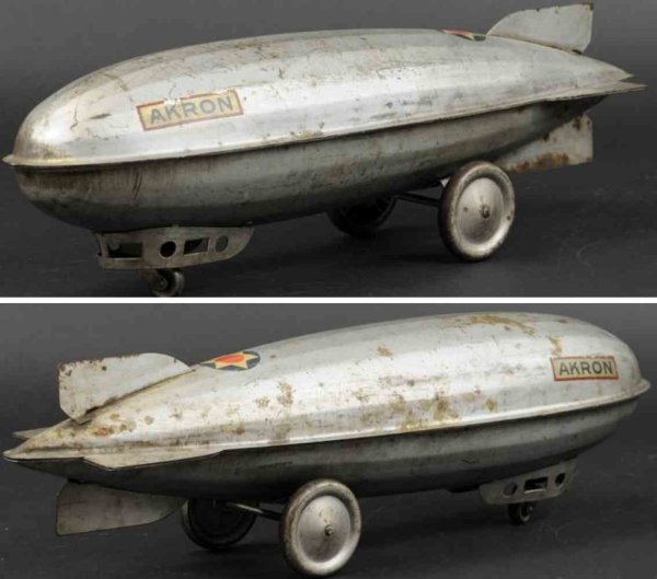 Steelcraft Tine Ariplanes Zeppelin AKRON, pressed steel body, painted in familiar si