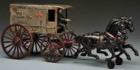 Harris Toy Co Cast-Iron-Carriages Cast iron ambulance...