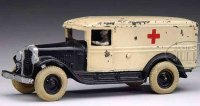 Arcade Cast-Iron trucks Cast iron Ambulance in black and...