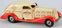 Marx Tin-Cars Ambulance car of pressed steel with wind-up...