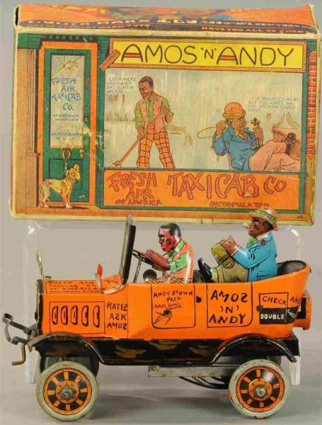 Marx Tin-Other-Vehicles Amos N  Andy fresh air taxi. Copyright by Correll & Gosden