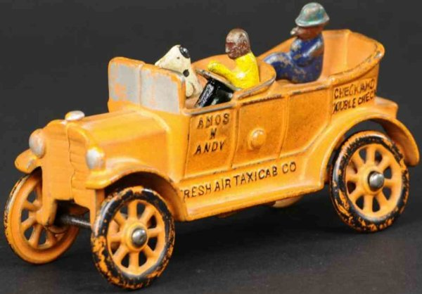 Dent Hardware Co Cast-Iron Oldtimer Amos n Andy taxicab made of cast  iron, classic later casti