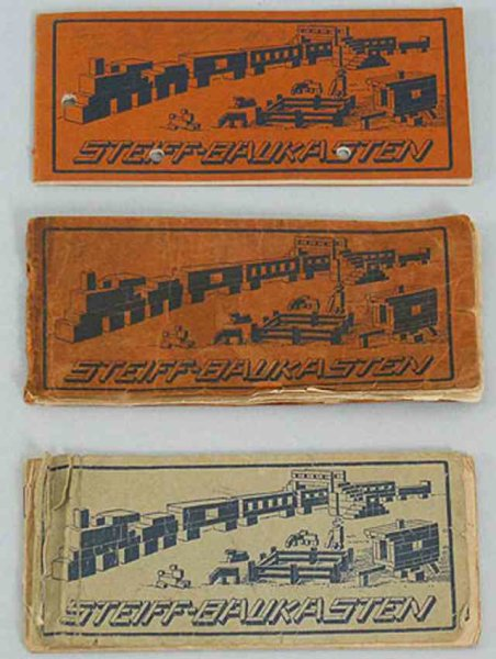 Steiff Wood-Kits Originally sold instruction booklets in different versions f