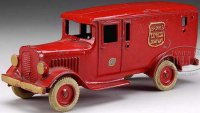 Arcade Cast-Iron trucks BRINKS EXPRESS CO.  Cast iron...