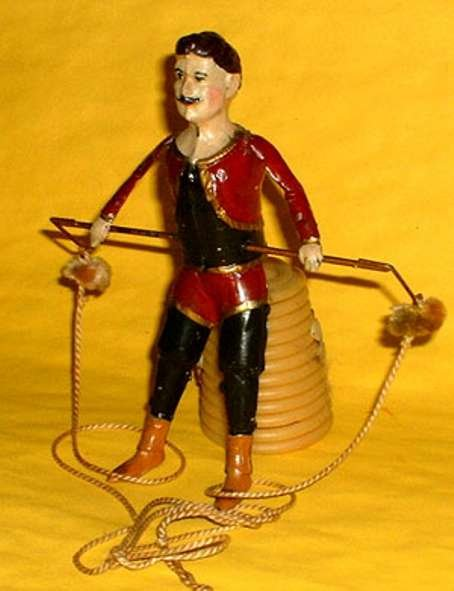 Guenthermann Tin-Figures Circus-Artist on Horizontal Bar