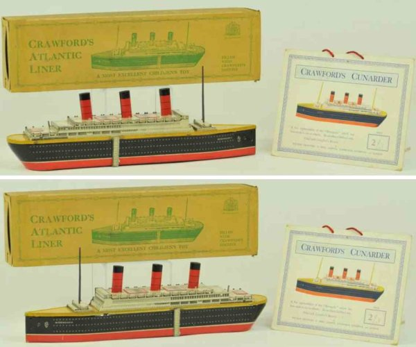Crawford William & Sons Tin-Ships Atlantic liner witb box made of biscuit tin, made in Germany