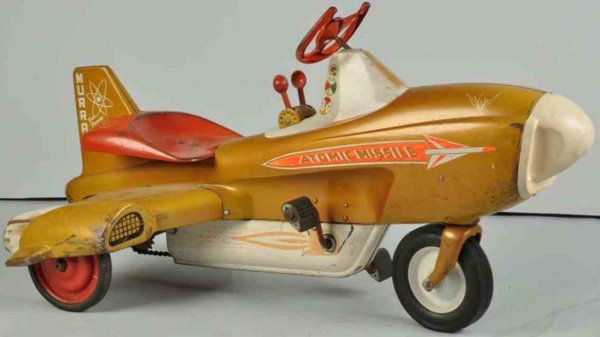 Murray Tin-pedal cars Atomic missile pedal car made of pressed steel, chain-driven