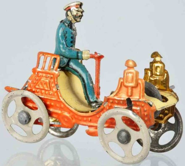 Meier Tin-Penny Toy Automobile made of lithographed tin with early flywheel mech