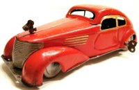 Memo Gutmann Tin-Oldtimer Sheet car with clockwork and...