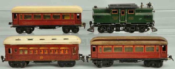 Maerklin Railway-Trains Electric NY central passenger train set, includes extremely