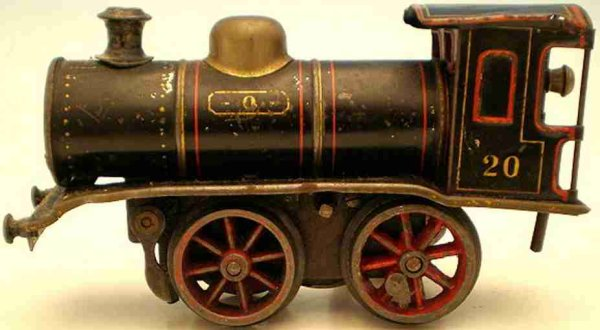 Maerklin Railway-Locomotives clockwork steam locomotive #B 1030, blackly chrome-lithograp