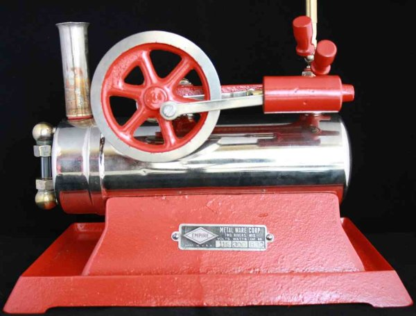 Empire Metalware Steam Toys-Horizontal Steam Engines Horizontal steam engine with cast iron base alw