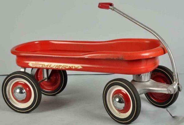 Murray Tin-Other-Vehicles Ball bearing ride wagon made of pressed steel in red, comple