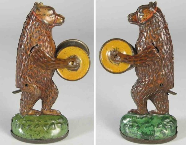 Nitschmann Heinrich Tin-Penny Toy Performing bear #2040 which also functioned as a candy conta