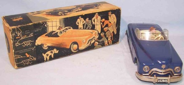 Arnold Tin-Cars Candidat Cabriolet #3000 in original box, made of tin, handp