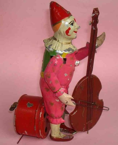 Bing Tin-Clowns Music clown with bass wind-up toy