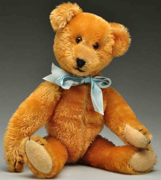 Ideal Toy Baers Gold bear with shoe button eyes and black stitched nose and