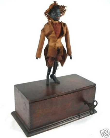 Ives Wood-Figures The Famous Dancing Darkies wind-up toy, it has a patent date