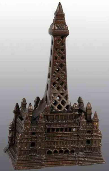 Chamberlin & Hill Cast-Iron-Mechanical Banks Blackpool tower still bank of cast iron