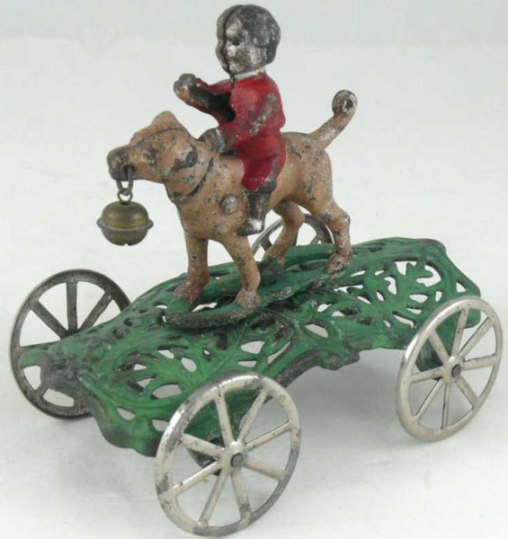 Gong Bell Cast-Iron Figures Bob and Bruno  cast iron bell toy pull toy. The standard & q