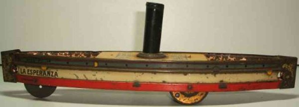Hess Tin-Ships Ground runner Hess-Roller of sheet metal, inscription LA