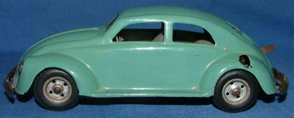 JNF Neuhierl Tin-Cars Pretzel beetle, car sign IN-35,made of tin, hand painted i