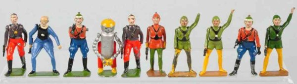 Britains Ltd. Toy Cast-Iron Figures Buck Rogers premium figures of diecast, includes one Mekkano