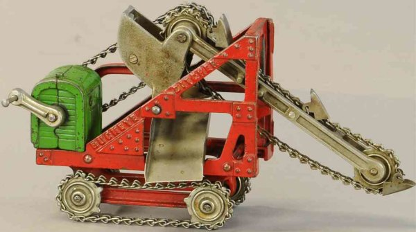 Kenton Hardware Co Cast-Iron Tugs-Rollers Cast iron buckeye ditcher with original chains and tin sli