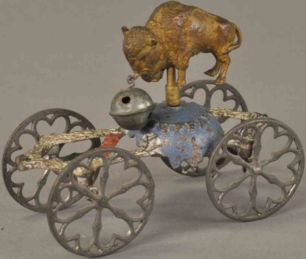 Gong Bell Cast-Iron Figures Are you a buffalo bell toy, rather scarce example, painted c