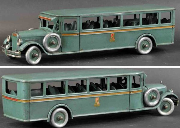 Buddy L Tin-Buses Passenger bus, classic and popular coach bus, pressed steel