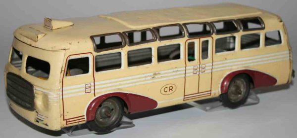 Rossignol Tin-Buses French autobus, electric model with battery